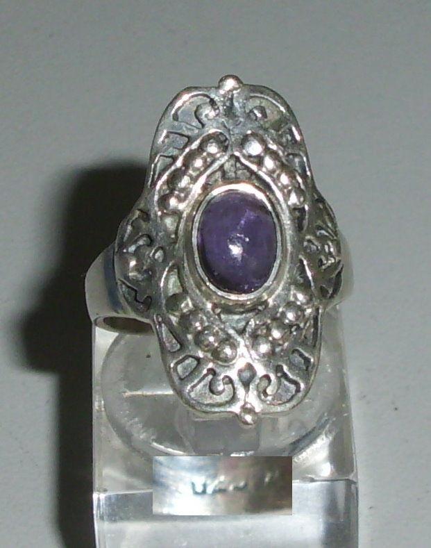 Ring aus 925 Silber mit Amethyst, Gr. 54, Ø 17,2 mm  (da4259)