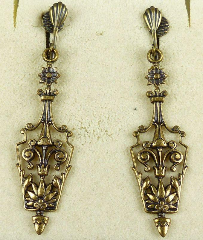 Alte sehr dekorative Ohrringe/Clips    (da4619)