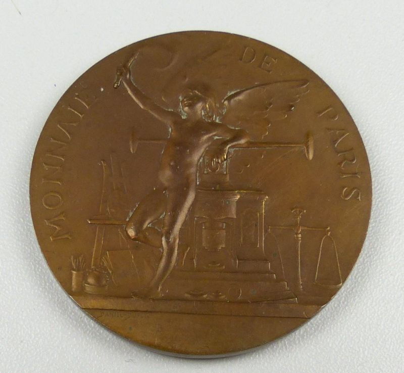 Bronze-Medaille Prachtmedaille Monnaie De Paris 1900 (da4847)