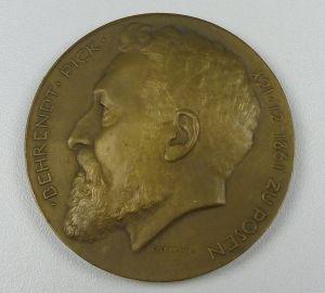 Bronze-Medaille z. 60. Geburtstag von Behrendt Pick zu Posen 21.12.1861 (da4845)