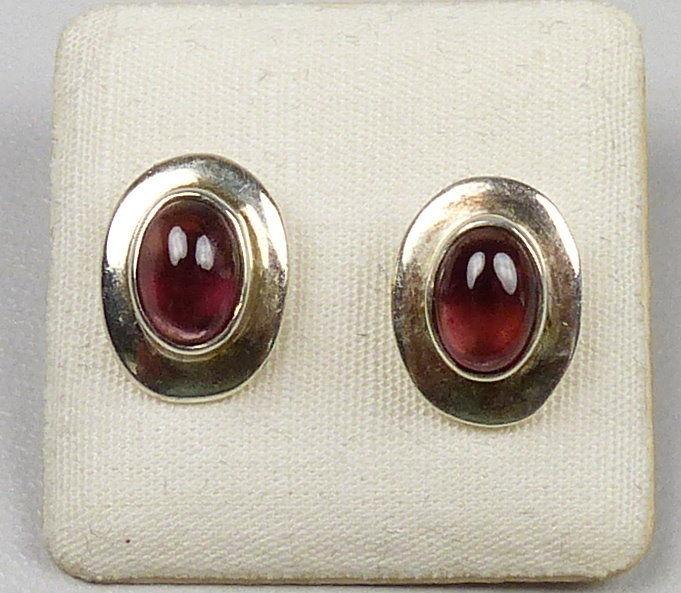 Ohrringe/Stecker 925er Silber mit Granate/neu aus Geschäftsauflösung   (da4862)