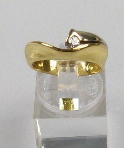 Ring aus 750er Gold mit Diamant 0,05 ct., Gr. 55/Ø 17,5 mm   (da4889)