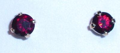 Ohrringe  aus 925er Silber vergoldet mit Granate (da1346)