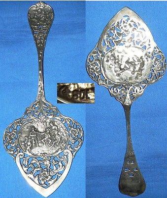 Gründerzeit-Tortenheber 800 Silber >>selten<<