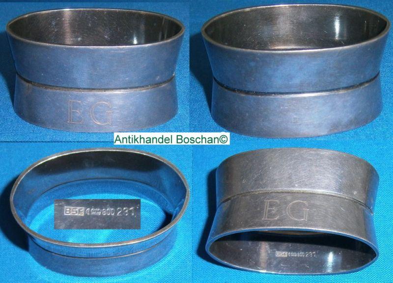 Serviettenring  800 Silber mit Monogramm EG Bremer Silberwarenfabrik BSF