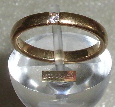 Ring aus 585er Gold mit Diamant 0,02 ct., Gr. 54, Ø 17,2 mm (da3575)