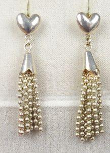 Herz-Ohrringe/Stecker aus 925er Silber   (da4904)