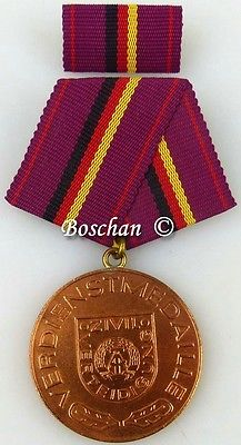 Verdienstmedaille der Zivilverteidigung der DDR in Bronze 1970-1976 (AH232a)