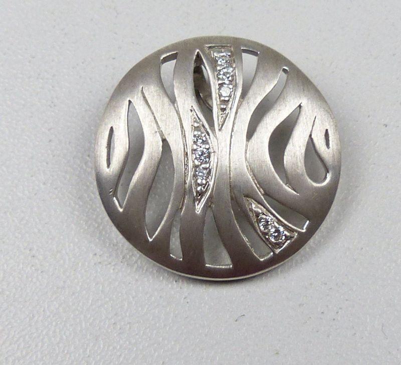 Wunderschöner Anhänger aus 925er Silber mit weißen Steinen (da4937)