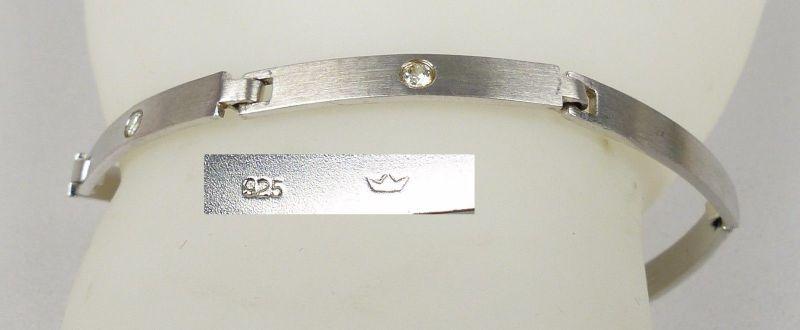 Armband aus 925er Silber mit weißen Steinen         (da4936)