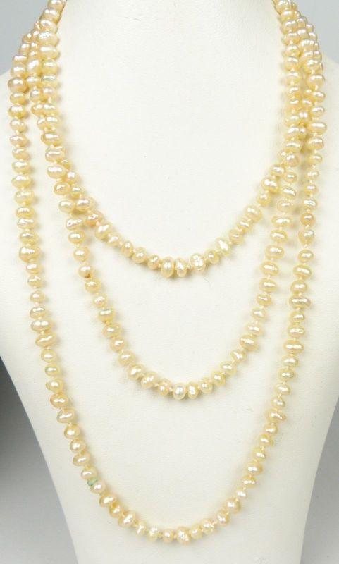 alte Perlen-Kette mit rosa Perlen (da5125)