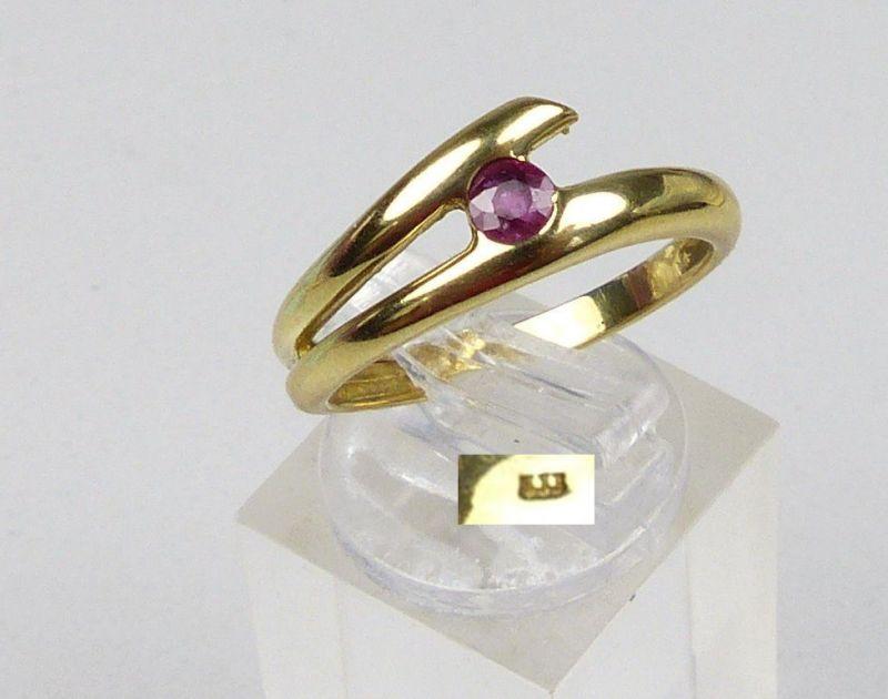 Ring aus 333er Gold mit Amethyst, Gr. 57/Ø 18 mm  (da5028)