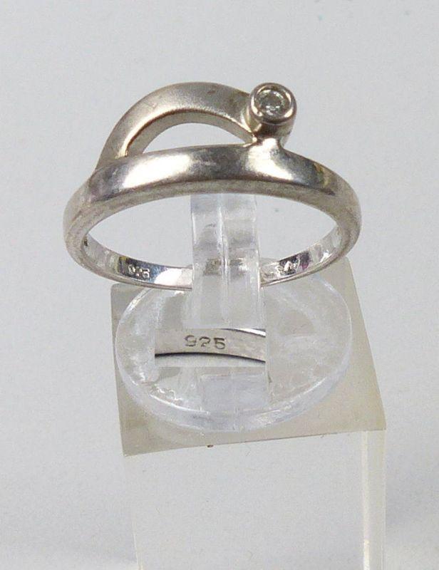 Ring aus 925er Silber mit Zirkonia, Gr. 56/Ø 17,8 mm  (da5137)