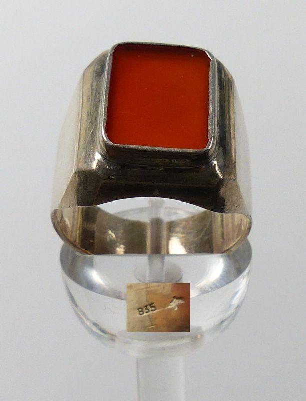 Herren-Ring aus 835er Silber mit Achat, Gr. 66/Ø 21 mm  (da5129)