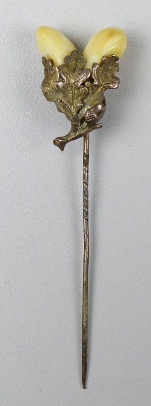 alte Grandel - Anstecknadel/Brosche/Hutnadel aus Silber  sehr groß (da5147)