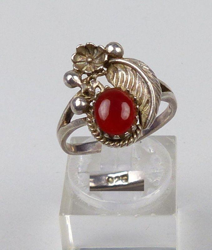 Ring aus 925er Silber mit Achat, Gr. 55/Ø 17,5 mm  (da5146)