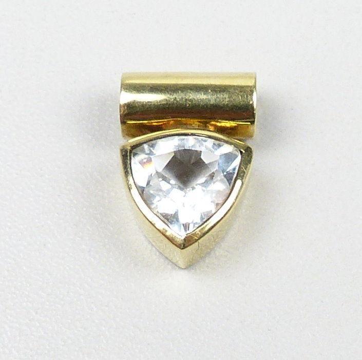 Wunderschöner Anhänger aus 375er Gold mit Bergkristall    (da5139)
