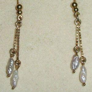 Ohrringe aus 333er Gold mit Perlen     (da0814)