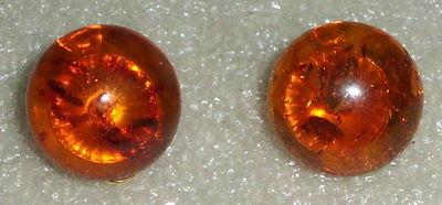 Ohrringe aus 333er Gold mit Bernstein/Amber    (da0806)