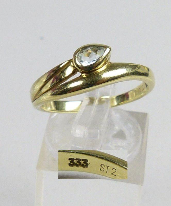 Ring aus 333er Gold mit Aquamarin, Gr. 60/Ø 19,1 mm  (da5159)