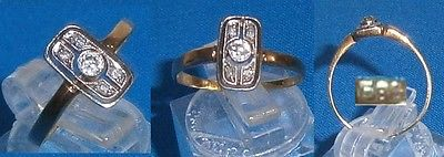 sehr alter Diamant-Ring ca. 0,14 ct. 585 Gold  (d2326)