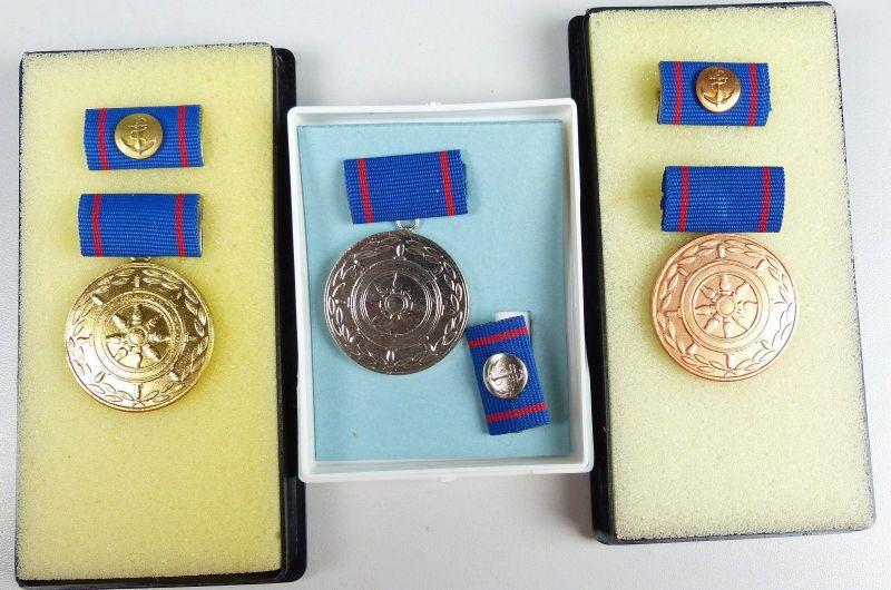 Treue Arbeit in der Seeverkehrswirtschaft Gold Silber Bronze + Blanko-Urkunden