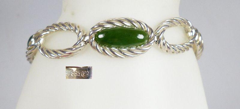 Armband aus 835er Silber mit Peridot          (da4822)