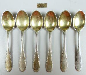 6 Mokkalöffel aus 800er Silber Jugendstil   (da5110)