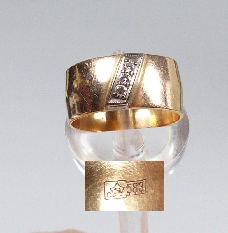 Ring aus Silber mit Hämatit, Gr. 58/Ø 18,4 mm  (da5195)