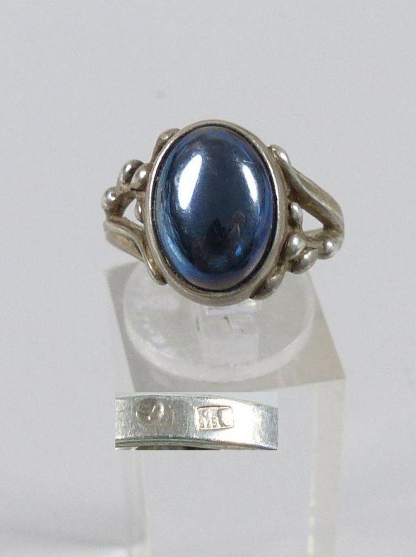 Ring aus 925er Silber mit Lapislazuli, Gr. 58/Ø 18,4 mm  (da5237)