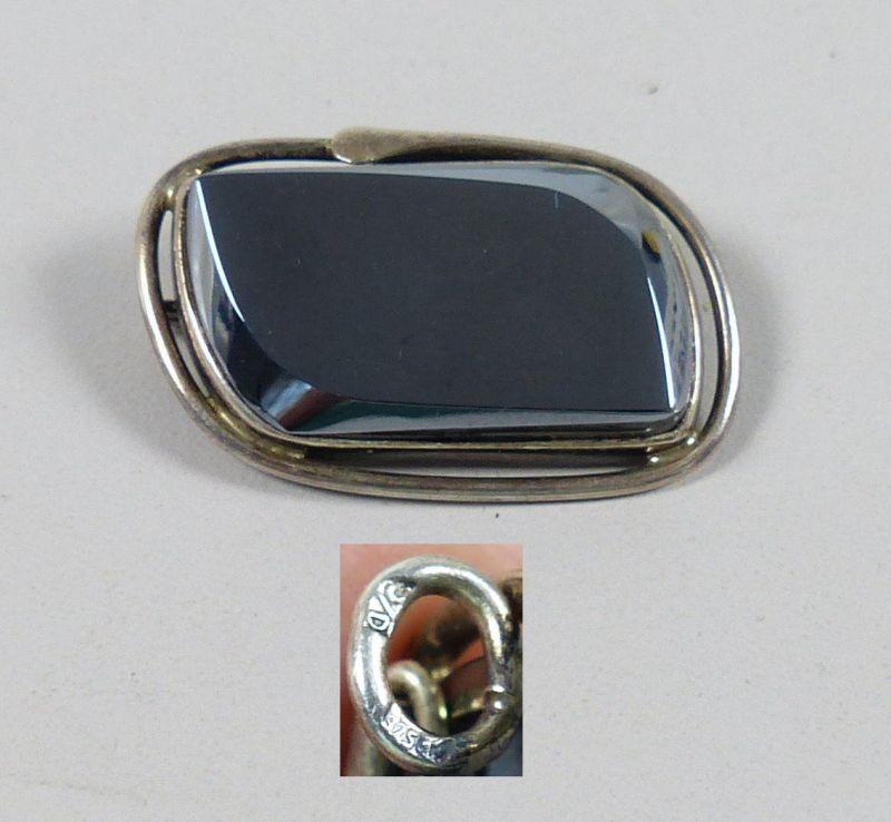 Alter Anhänger/Brosche aus 925er Silber signiert   (da5232)