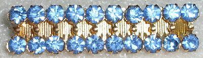 Brosche Modeschmuck wohl 20iger Jahre mit aquamarinfarbenen Steinen