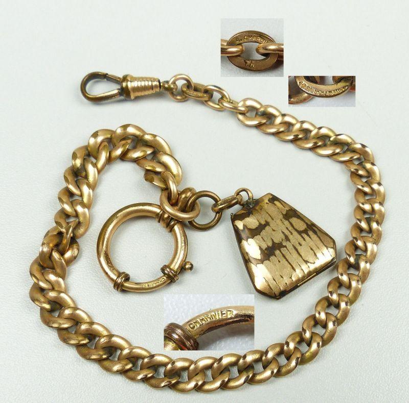 Uhrenkette Kette für Taschenuhren aus Doublé   (da4812)