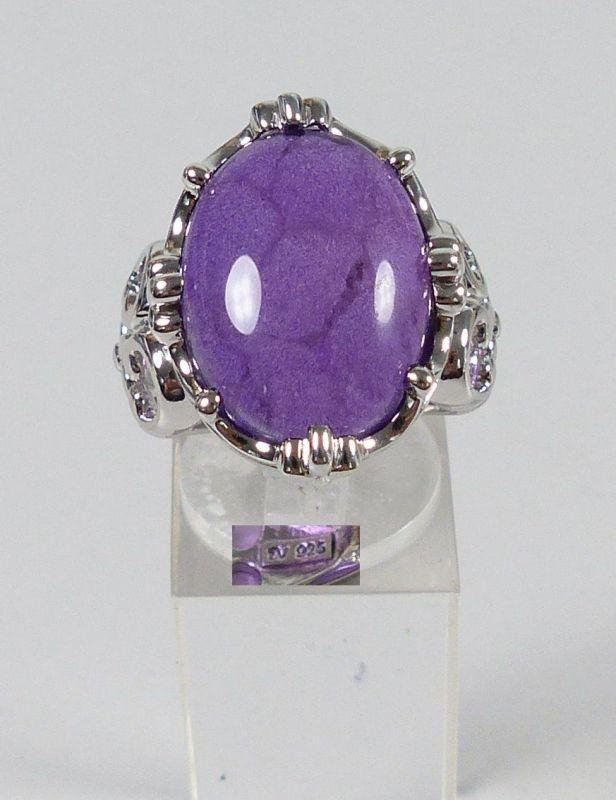 Sehr schöner Ring aus 925er Silber mit Amethyst, Gr. 57/Ø 18 mm  (da5263)