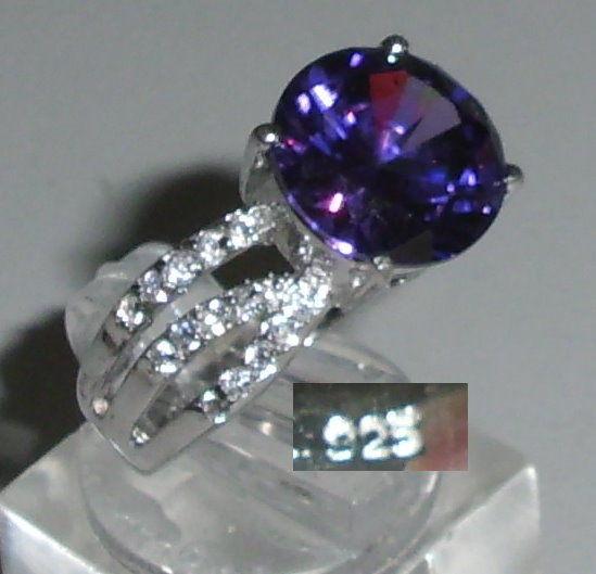 Ring aus 925 Silber mit Amethyst, Gr. 60, Ø 19,1 mm  (da4253) 0