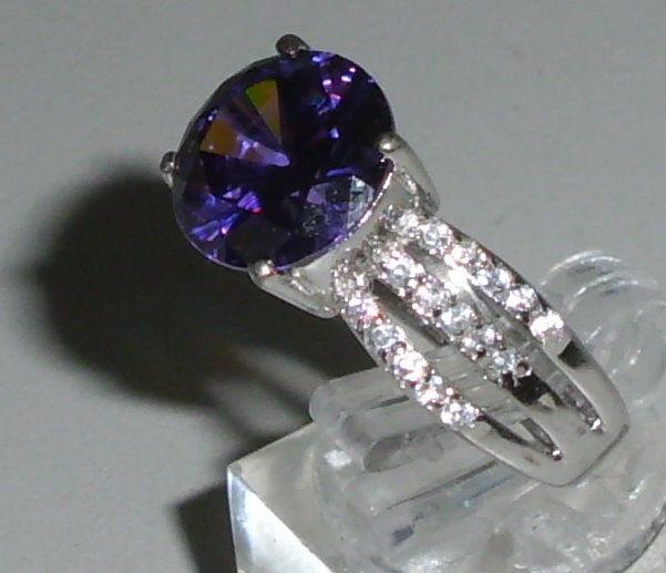 Ring aus 925 Silber mit Amethyst, Gr. 60, Ø 19,1 mm  (da4253) 1