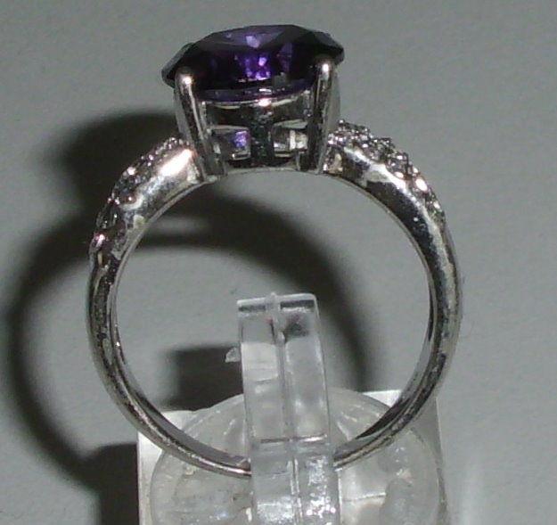 Ring aus 925 Silber mit Amethyst, Gr. 60, Ø 19,1 mm  (da4253) 2