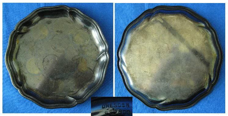7teiliges Likörset in 800er Silber, Schnauffer Dresden 1
