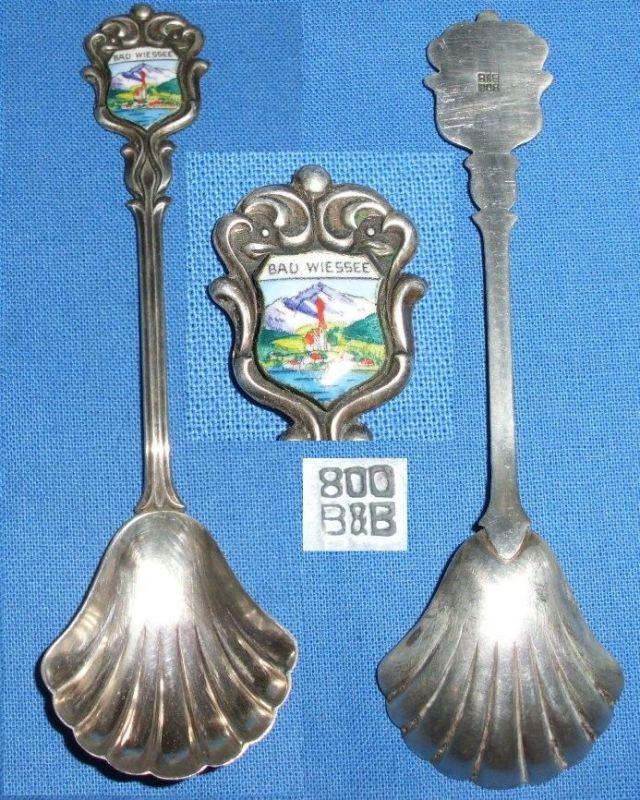 alter Sammler/Andenken-Löffel 800 Silber Bad Wiessee 0