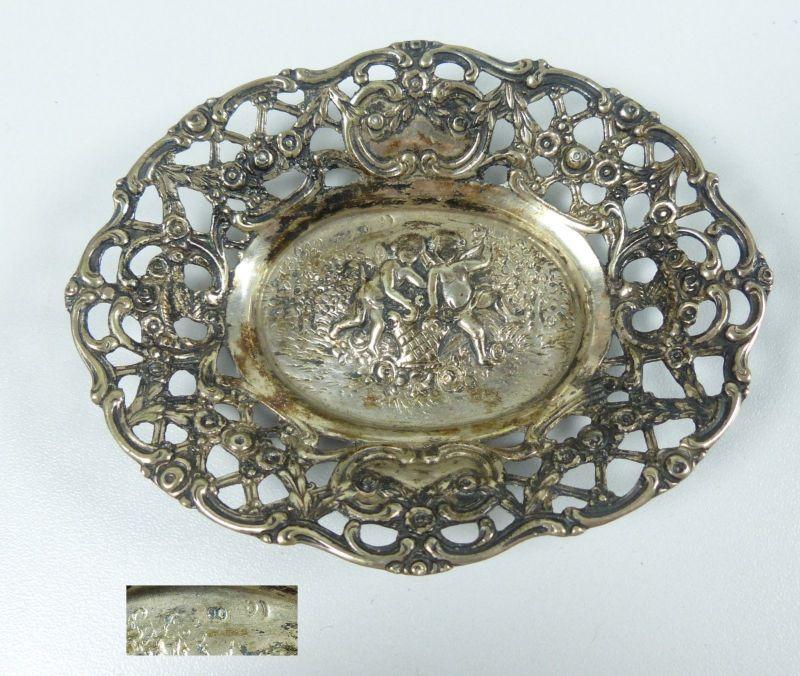 Kleine Schale aus 800 Silber mit Putte Gründerzeit   (da5272)