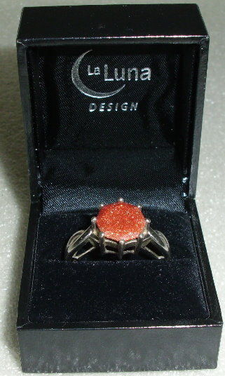 La Luna Design Ring Gr. 67, 925 Silber mit Goldfluss neuw. Geschäftsauflösung