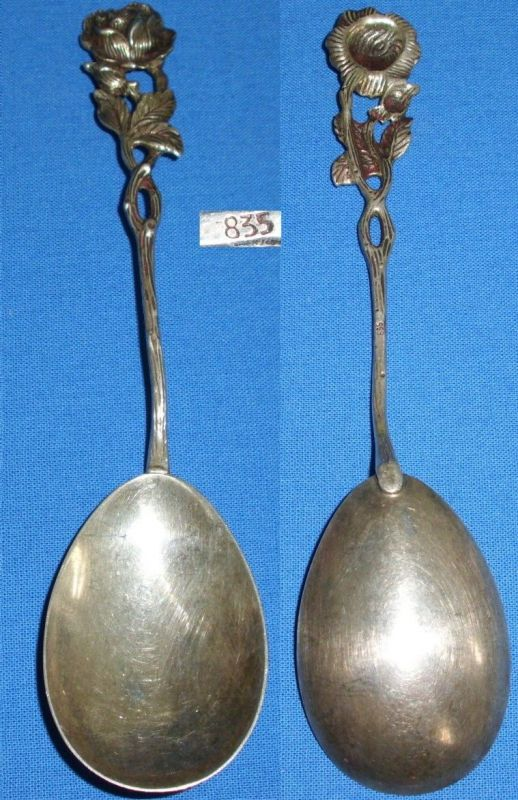Original alter Vorlegelöffel 835 Silber Rose