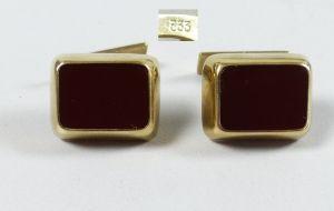 Manschettenknöpfe aus 333er Gold mit Achat   (da5319)