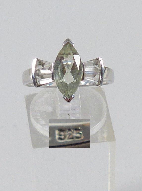 Ring aus 925er Silber mit Aquamarin, Gr. 55/Ø 17,5 mm  (da5212)