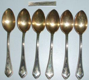 Friedländer u. Eisner Mokkalöffel aus 800er Silber   (da4212)