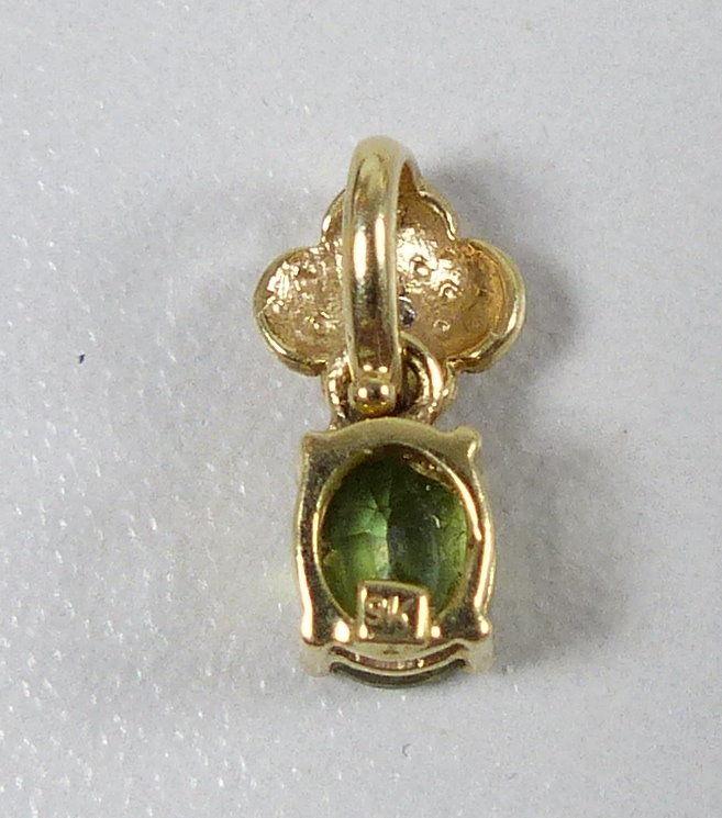 Zwei Anhänger aus 9 K = 375 Gold mit Aquamarin, Smaragd u. Diamant  (da5348) 1