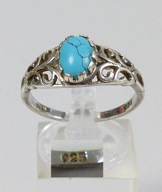 Ring aus 925 Silber mit Türkis, Gr. 63, Ø 20 mm  (da5342) 0