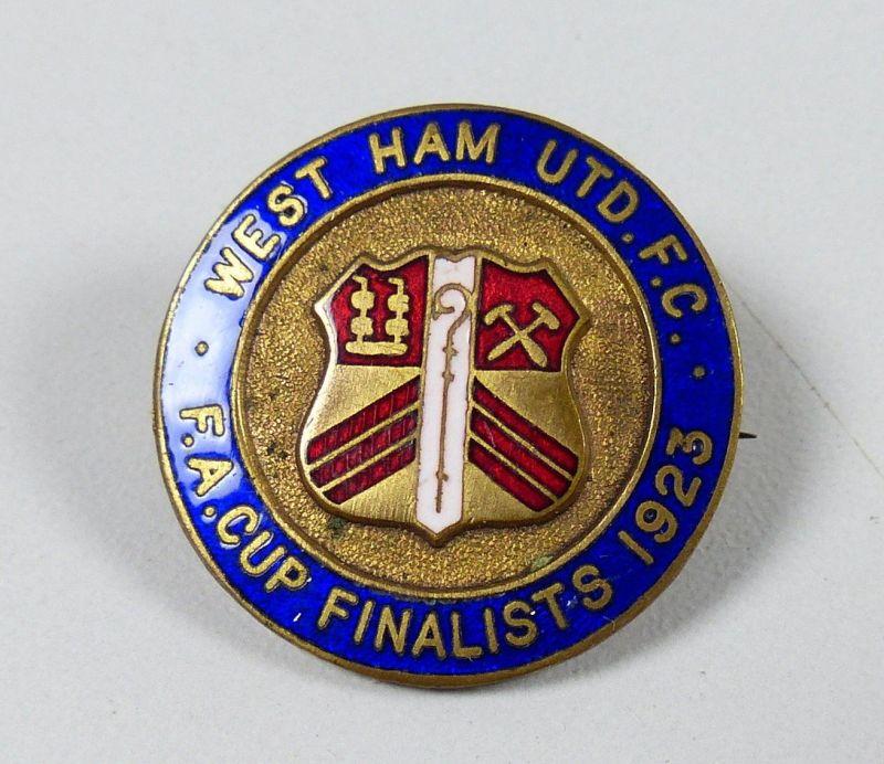 sehr alte Sport-/Fußballnadel WEST HAM UTD.F.C.  F.A. CUP FINALISTS 1923 0