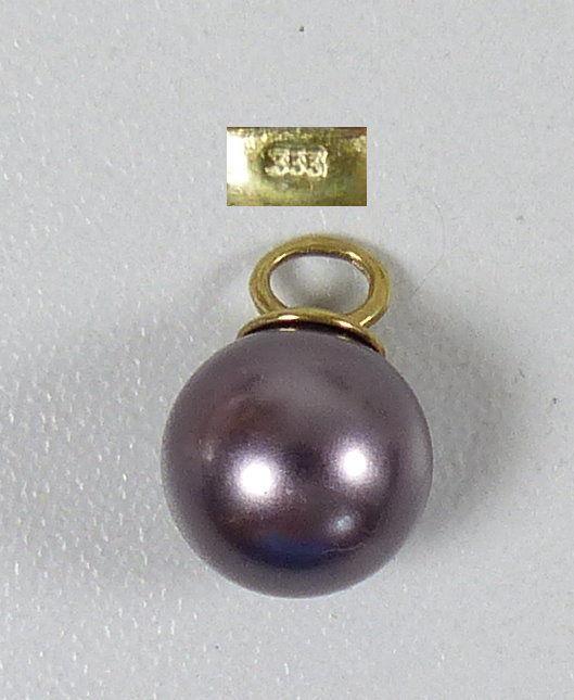 Wunderschöner Anhänger aus 333 Gold mit Tahiti Perle (da5361)