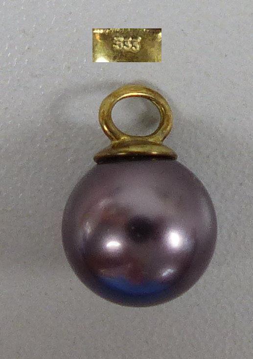 Wunderschöner Anhänger aus 333 Gold mit Tahiti Perle (da5360)